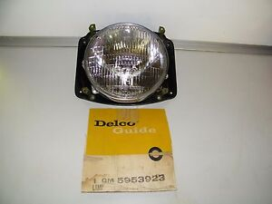 Nos Vintage 1958 1962 Chevy Truck Headlight Assembly 5953923