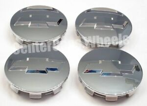 Set Of 4 Chevy Chevrolet 3 1 4 Inches Chrome Center Caps 83mm Hub Caps