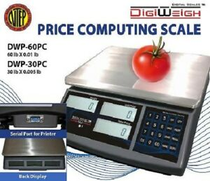 Dwp 30pc 30 Lb Ntep Legal For Trade Price Computing Scale