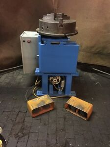 1000 Lb Cap Welding Positioner Equipped With 3 Jaw Chk