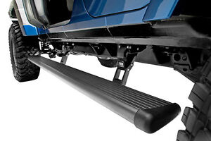 Amp Powerstep Retractable Running Board For 07 18 Jeep Wrangler Jk Unlimited 4dr