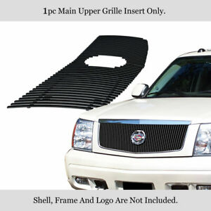 For 2002 2006 Cadillac Escalade Stainless Black Vertical Billet Grille