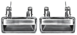 New 1971 1973 Ford Mustang Chrome Outside Door Handles Both Left And Right Pair