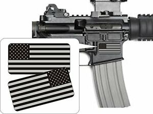 Pair American Flags Black Ops Stealthy Vinyl Decals Stickers Ar 15 Ar15 Gun