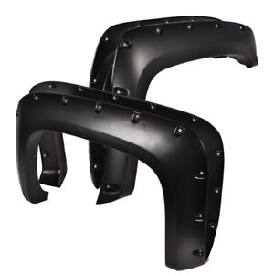 Pp Rivet Fender Flares Pocket Style For 07 14 Chevy Silverado 1500 2500hd 3500hd