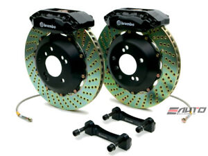 Brembo Front Gt Bbk Brake 4piston Caliper Black 328x28 Drill Disc Rx8 Rx 8 04 11