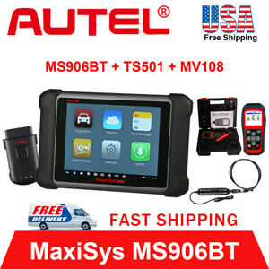 Autel Maxisys Ms906bt Obd2 Auto Diagnostic Tool Code Reader Tpms Ts501 Mv108