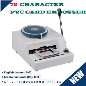 72 Letter Symbol Embosser Machine Pvc Gift Card Credit Id Vip Stamping Embossing