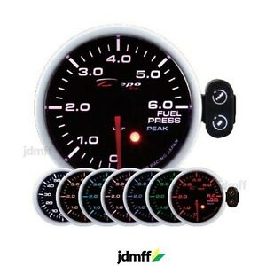 Depo Racing Bar Fuel Pressure Gauge Jdm Pressure Fuel 7 Colors 60mm pk sc6067b