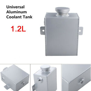 Overflow Expansion Tank Aluminum Radiator Coolant Bottle Swirl Pot Universal