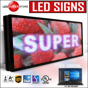 Led Super Store Full Color 12 x51 Programmable Msg Scrolling Emc Outdoor Sign