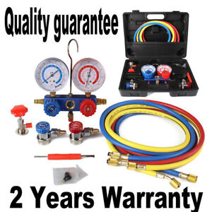 R134a R12 R22 R502 Hvac A C Refrigeration Ac Manifold Gauge Set Car Serivice Kit