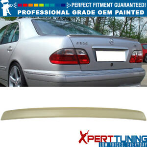 Fit 95 01 E class W210 4dr Abt Style Painted Abs Trunk Spoiler Oem Painted Color