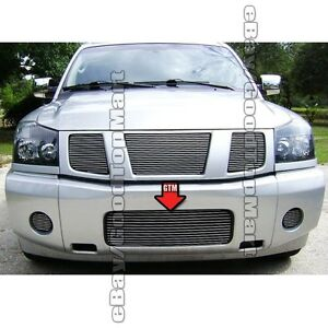 For 2004 2011 2012 2013 2014 Nissan Titan 1pc Bumper Replacement Polished Grille