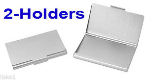 Tz Case Business Card Holder All Metal Pocket Size 2 Silver Anc004s