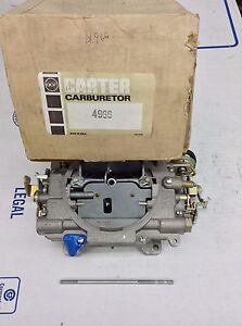 Nos Carter 4966s Afb Carburetor 1971 Chrysler Dodge Plymouth 440 A 120 Engine