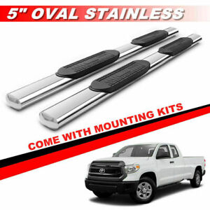 5 For 2007 2020 Toyota Tundra Double Cab Chrome Side Steps Running Boards Bars