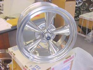 Torq Thrust Tto Polished Gm Chevy 17x8 Wheels American Racing Vn109 5x4 75 Wlug