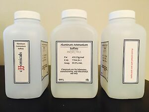 Aluminum Ammonium Sulfate Minimum 99 5 Purity 12 Pounds In Bottles