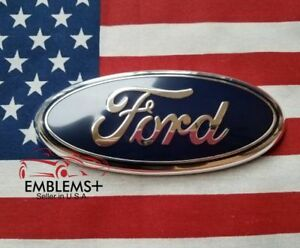 2004 2012 F150 Ford Tailgate Grille 9 Inch Black 3d Emblem With Alignment Post
