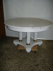 Retail Store Display 54 Round White Painted Table