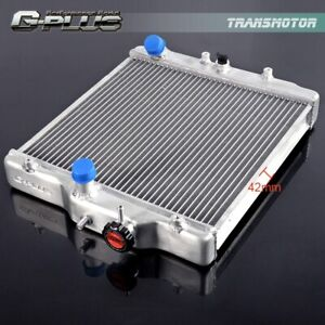 42mm 2 Row Aluminum Radiator For Honda Civic D15 16 Eg Ek 92 00 In out 28mm