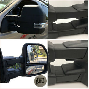 For 15 17 Ford F150 Pickup Towing Mirrors 8 pin Power Heated Led Signals Pair