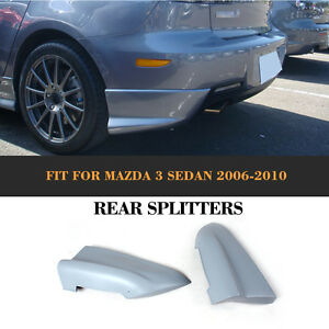 Rear Splitters Flaps Bumper Cupwings Aprons Kits Fit For Mazda 3 Axela 2006 2010