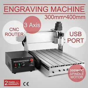 In Us 3 Axis 3040 Cnc Router Engraver 3d Engraving Drilling Milling Machine 300w