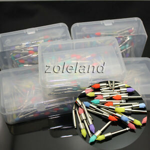 500 Pcs Dental Prophy Brush Polishing Polisher Nylon Latch Taperd Mixed Color