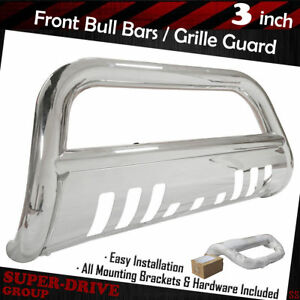 For 2002 2005 Dodge Ram 1500 Front Bumper Stainless Steel Bull Bar Grille Guards