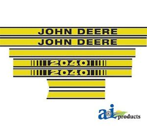John Deere 2040 Tractor Decal Set Hood Decal