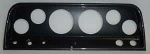 64 66 Chevy Truck Carbon Dash Carrier Panel For 3 3 8 2 1 16 Gauges