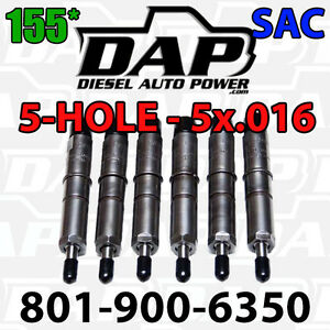 5x 016 155 Dap Performance Injectors 89 93 12v For Dodge Cummins Diesel