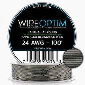 24 Gauge Awg Kanthal A1 Wire 100 Length Ka1 Wire 24g Ga 0 51 Mm 100 Ft