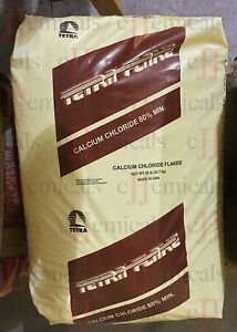Calcium Chloride Flakes cacl2 Minimum 99 Pure 50lb Bag