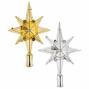Star of Bethlehem Christmas Tree Topper Decoration Ornament Gold or Silver