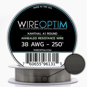 38 Gauge Awg Kanthal A1 Wire 250 Length Ka1 Wire 38g Ga 0 10 Mm 250 Ft