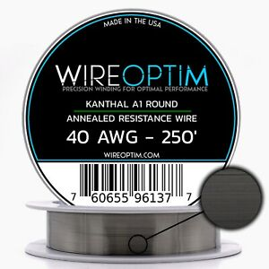 40 Gauge Awg Kanthal A1 Wire 250 Length Ka1 Wire 40g Ga 0 10 Mm 250 Ft