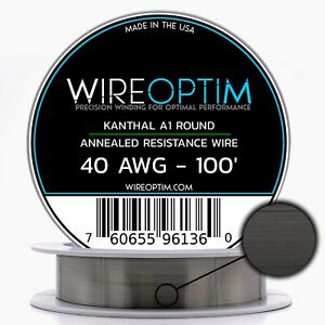 40 Gauge Awg Kanthal A1 Wire 100 Length Ka1 Wire 40g Ga 0 08 Mm 100 Ft
