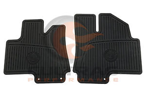 2010 2016 Cadillac Srx Genuine Gm Front All Weather Floor Mats Black 19172258