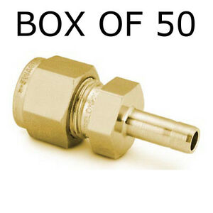 Swagelok B 200 r 4 Box Of 50 Brass Tube Fitting Reducer 1 8 In X 1 4 In