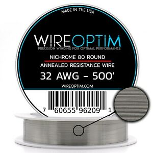 32 Gauge Awg Nichrome 80 Wire 500 Length N80 Wire 32g Ga 0 20 Mm 500 Ft