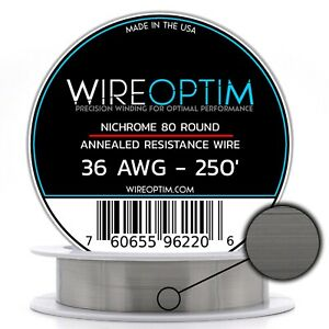 36 Gauge Awg Nichrome 80 Wire 250 Length N80 Wire 36g Ga 0 127 Mm 250 Ft