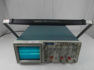 Tektronix 2236 100mhz Oscilloscope W Calibrated Sticker 6 29 2016 To 3 29 2017