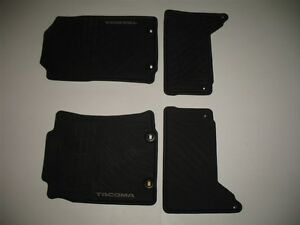 12 13 14 15 Toyota Tacoma Double Cab Rubber All Weather Season Oem Floor Mats 2