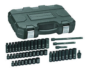 Gearwrench 44pc 3 8 Dr Master Shallow deep Sae metric Impact Socket Set 84916n