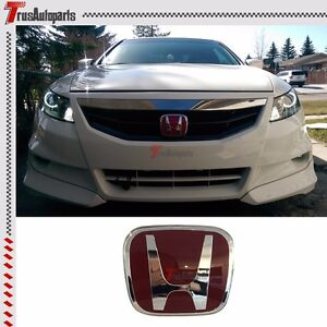 Fit 06 12 Honda Civic Coupe Jdm Red H Front Grill Emblem Badge Fg1 Fg2 4 75 x4