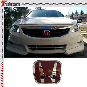 Fit 02 12 Honda Accord Coupe Sedan Jdm Red H Front Grill Emblem Badge 4 75 x4
