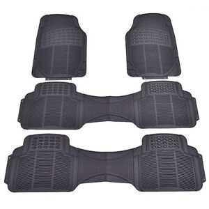 4 Pcs All Weather Van Car Rubber Floor Mat Heavy Duty Front Rear Liners Black